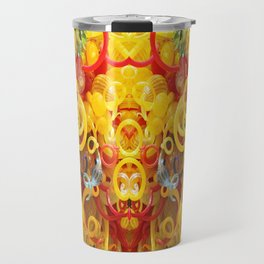 Oriental Style Swirls and Curls Travel Mug