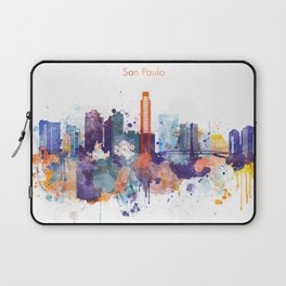 Colorful San Paulo skyline design Laptop Sleeve