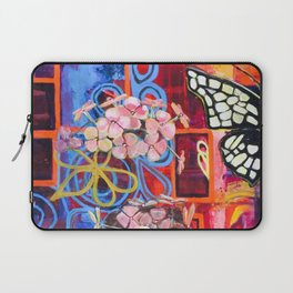 Hydrangea Butterfly Abstract Laptop Sleeve