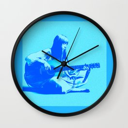 Blue Songbird Joni Mitchell Wall Clock