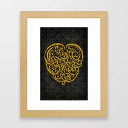Light of the Love version 2 Framed Art Print