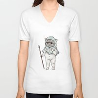 ewok V-neck T-shirts featuring Ewok Baby by Sophia B