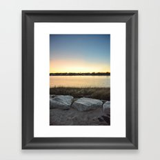 Cape Cod sunset Framed Art Print