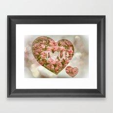 VALENTINE'S DAY ROSES Framed Art Print