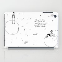 sun and moon iPad Cases featuring The Sun and Moon by aboutchopsuey