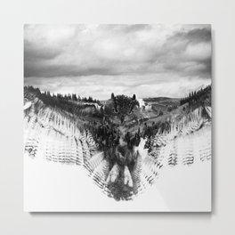 Owl Mid Flight Metal Print