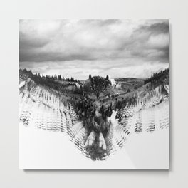 Owl Mid Flight Metal Print