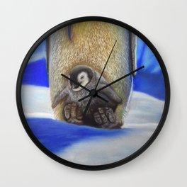 Emperor Penguin Huddle Wall Clock
