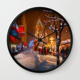 Timisoara Christmas Market Wall Clock
