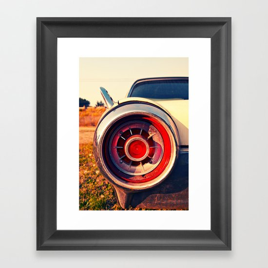 T-Bird taillight Framed Art Print