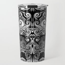 Black and White swirls Travel Mug