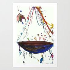 Diamond Ship Art Print