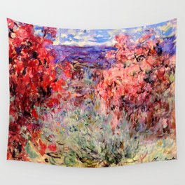 """Claude Monet """"Flowering Trees near the Coast"""", 1926 Wall Tapestry"""