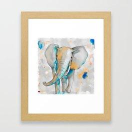 Watercolor Elephant Framed Art Print