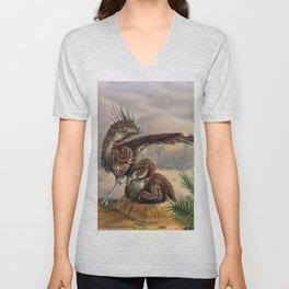 Brooding Velociraptors Unisex V-Neck