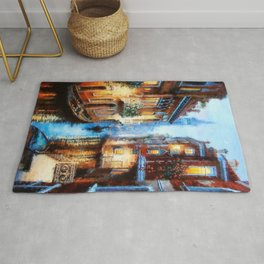 Venice Canal Digital Oil Painting Rug