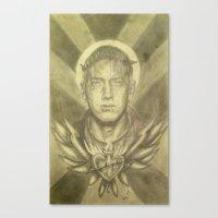 rap Canvas Prints featuring Rap God by SerpienteFineArts