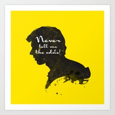 The Odds – Han Solo Silhouette Quote Art Print