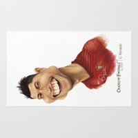 ronaldo Area & Throw Rugs featuring C. Ronaldo - Portugal by Sant Toscanni