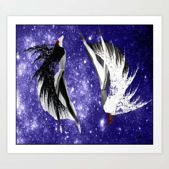 Galaxy Queen Art Print