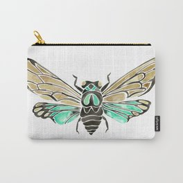 Summer Cicada – Mint & Tan Palette Carry-All Pouch