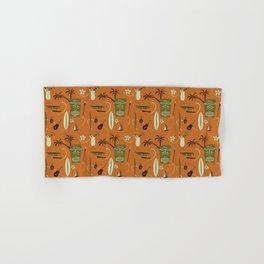 Orange Retro Hawaiian Tiki Hawaii Beach Hand & Bath Towel