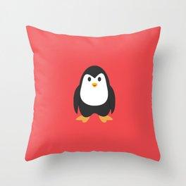 Penguin Happy Throw Pillow