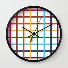 Pride Plaid Wall Clock