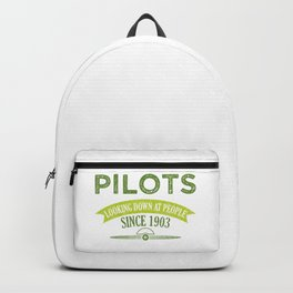 Pilot Proud Aviation Lover Gift Idea Backpack