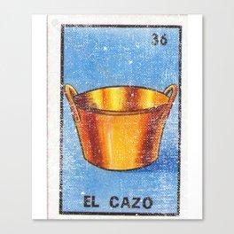 El Cazo Mexican Loteria Bingo Card Canvas Print