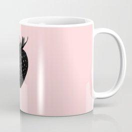 Black Strawberry Coffee Mug