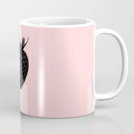 Black Strawberry Coffee Mug