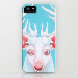 Portrait of a White Stag iPhone Case