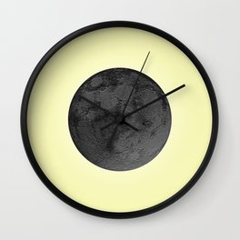 BLACK MOON + CANARY YELLOW SKY Wall Clock