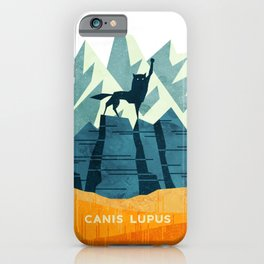 Canis Lupus: What a beautiful creature. I have a Phobia of Wolves. iPhone Case
