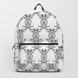 Deer Black and White Pattern Backpack