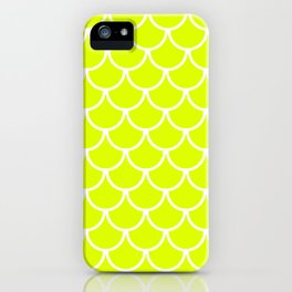Chartreuse Fish Scales Pattern iPhone Case