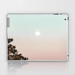 Rainbow Color Sunset // Incredible Clear Sky Photograph Through the Forest Trees Laptop & iPad Skin