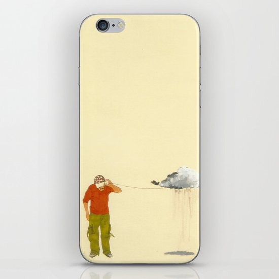 man listening to a cloud iPhone & iPod Skin