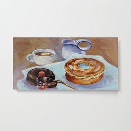 Desert, french breakfast, bonbon, coffee, sweet, food Metal Print