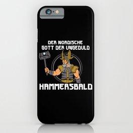 Nordic God Hammersbald iPhone Case