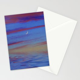 Crescent Moon at Sunset Stationery Cards