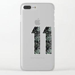 Master number 11 Clear iPhone Case