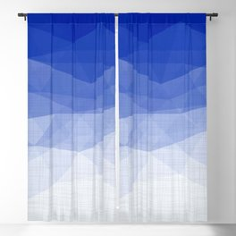 Imperial Lapis Lazuli - Triangles Minimalism Geometry Blackout Curtain