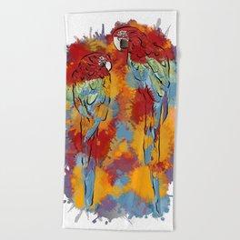 Macaws Beach Towel