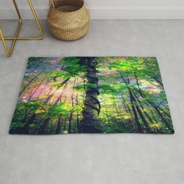 Forest of the Fairies (Deep Pastels) Rug