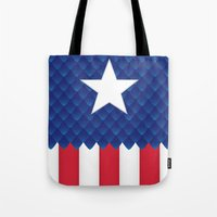 america Tote Bags featuring America by gallant designs