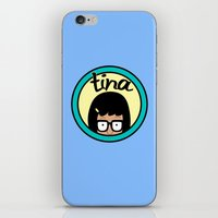 tina crespo iPhone & iPod Skins featuring Tina by Page394