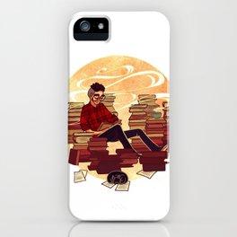 Book Lover Boy iPhone Case