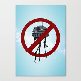 Drones are spooky? Canvas Print